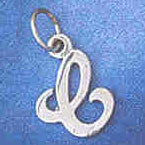 14K WHITE GOLD INITIAL CHARM - C #11569