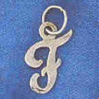 14K WHITE GOLD INITIAL CHARM - F #11569