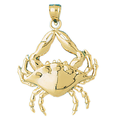 14K GOLD NAUTICAL CHARM - CRAB, We Specialize in 14Kt Gold charms, 14k gold Pendants,14k gold necklaces,14k Gold Bracelets,14k Gold Earrings,14k Gold Rings.