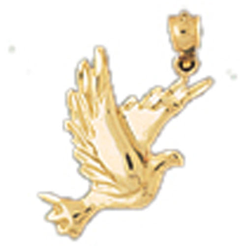 14K GOLD ANIMAL CHARM - BIRD #2933