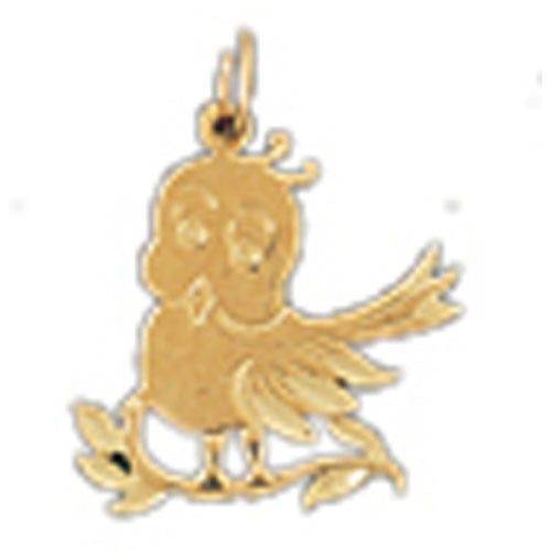 14K GOLD ANIMAL CHARM - BIRD