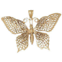 14K GOLD ANIMAL CHARM - BUTTERFLY #3086
