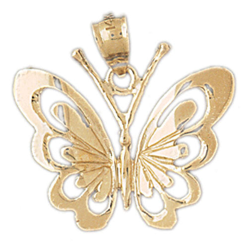 14K GOLD ANIMAL CHARM - BUTTERFLY #3093