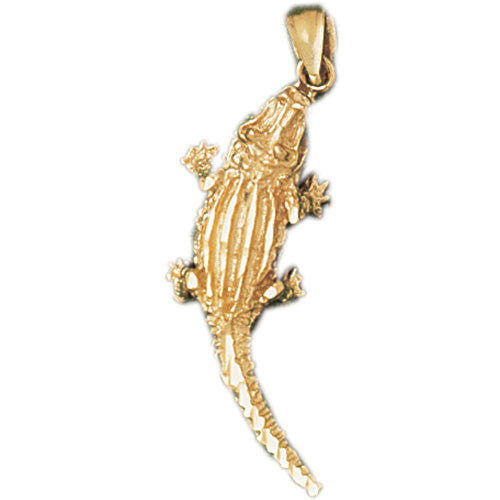 14K GOLD ANIMAL CHARM - CROCODILE #1637