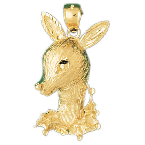 14K GOLD ANIMAL CHARM - DEER #2221