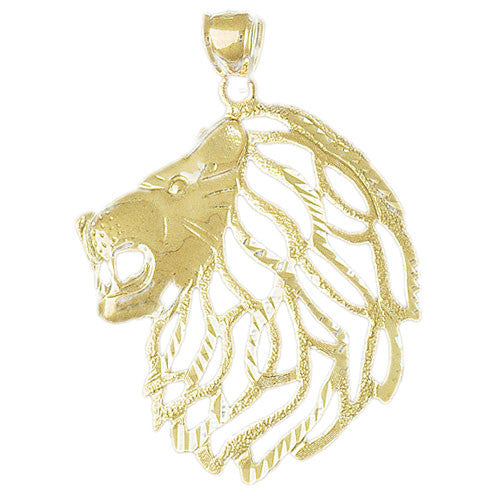 14K GOLD ANIMAL CHARM - LION #1677