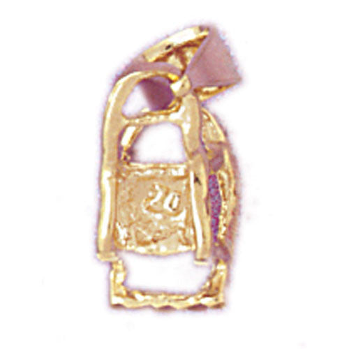 14K GOLD BABY CHARM - HIGHCHAIR #5920