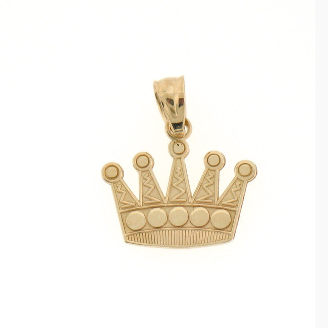 14K GOLD CHARM - CROWN #6566