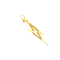14K GOLD CHARM - FORKED LIGHTNING #5690