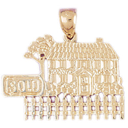 14K GOLD CHARM - HOUSE #6977