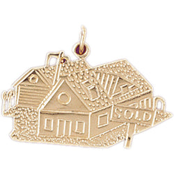 14K GOLD CHARM - HOUSE #6979
