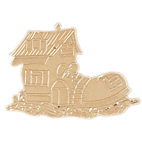 14K GOLD CHARM - HOUSE #6980