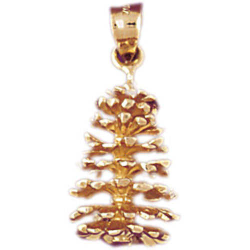 14K GOLD CHARM - Pinecone #6787