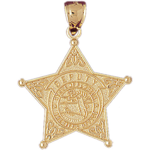 14K GOLD CHARM - POLICE BADGE #4550