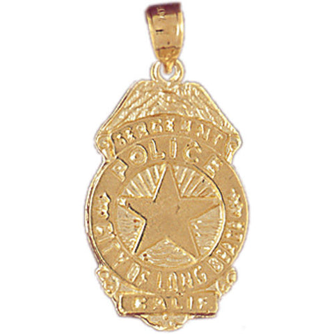 14K GOLD CHARM - POLICE BADGE #4556