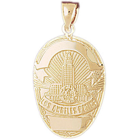 14K GOLD CHARM - POLICE BADGE #4585