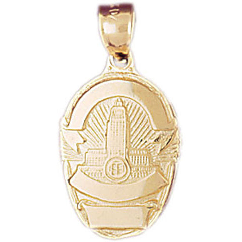 14K GOLD CHARM - POLICE BADGE #4586
