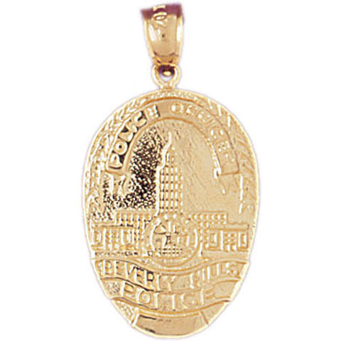 14K GOLD CHARM - POLICE BADGE #4589