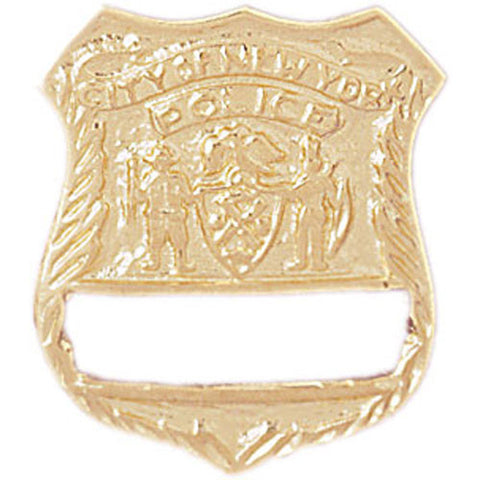 14K GOLD CHARM - POLICE BADGE #4591