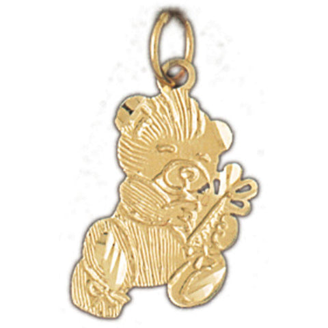 14K GOLD CHARM - TEDDY BEAR #2492