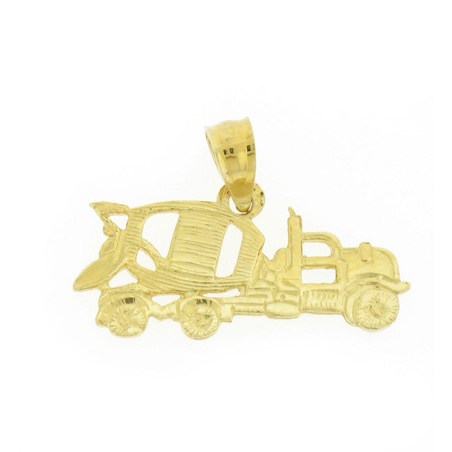 14K GOLD CONSTRUCTION CHARM - CEMENT MIXER # 4313