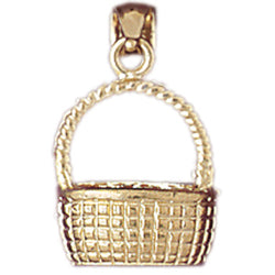 14K GOLD COOKING CHARM - BASKET #6970