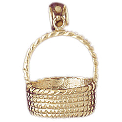 14K GOLD COOKING CHARM - BASKET #6971