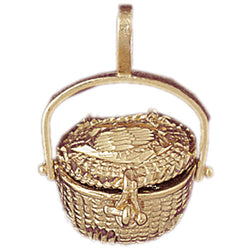 14K GOLD COOKING CHARM - BASKET #6972