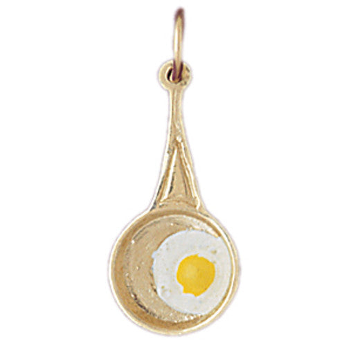 14K GOLD COOKING CHARM - PAN #6964