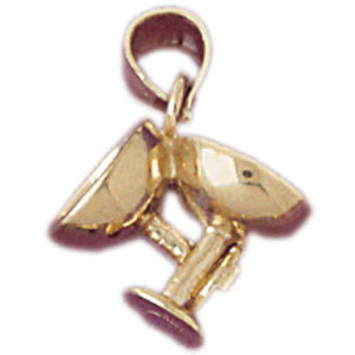 14K GOLD COOKING CHARM - WINE GLASS #6944