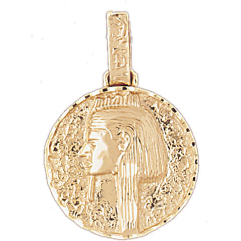 14K GOLD EGYPTIAN CHARM - KING TUT #4804