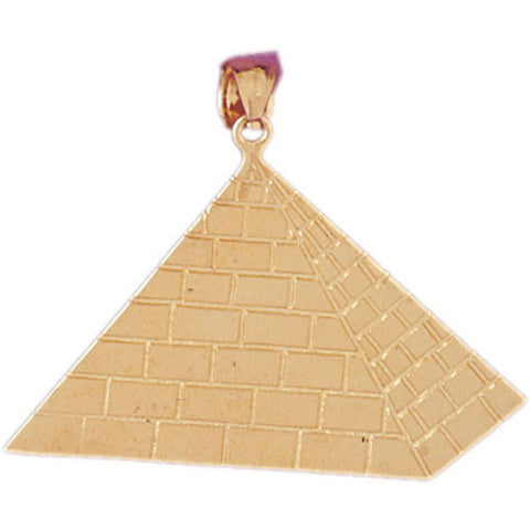 14K GOLD EGYPTIAN CHARM - PYRAMID #4784