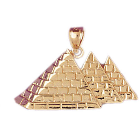 14K GOLD EGYPTIAN CHARM - PYRAMID #4785