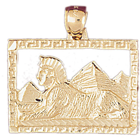 14K GOLD EGYPTIAN CHARM - SPHINX #4812