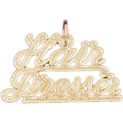 14K GOLD HAIRDRESSER CHARM - HAIR DRESSER #6369