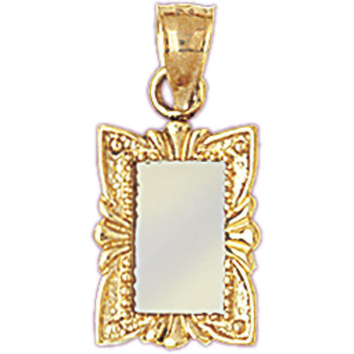14K GOLD HAIRDRESSER CHARM - MIRROR #6370