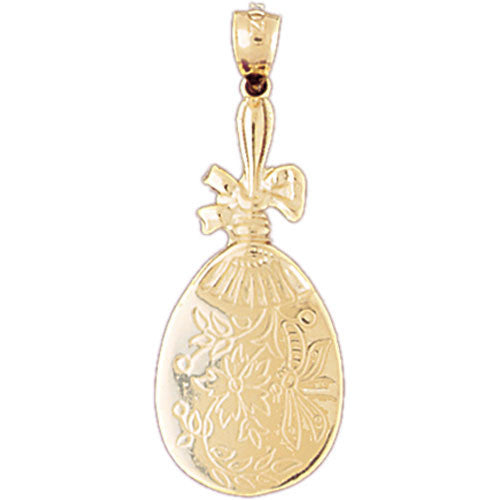 14K GOLD HAIRDRESSER CHARM - MIRROR #6371