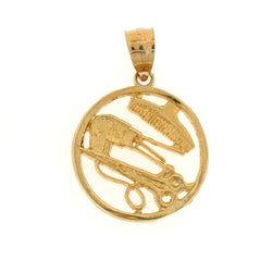 14K GOLD HAIRDRESSER CHARM #6297