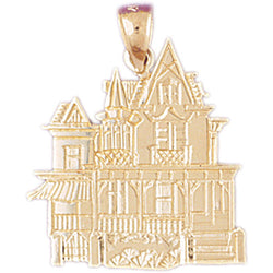 14K GOLD HOUSE CHARM #6981