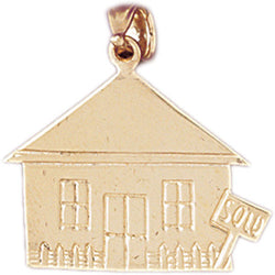 14K GOLD HOUSE CHARM #6982