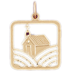 14K GOLD HOUSE CHARM #6983
