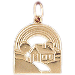 14K GOLD HOUSE CHARM #6984