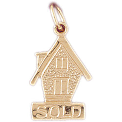 14K GOLD HOUSE CHARM #6985