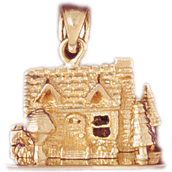 14K GOLD HOUSE CHARM #6988