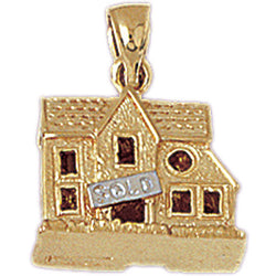 14K GOLD HOUSE CHARM #6989