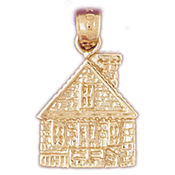 14K GOLD HOUSE CHARM #6991