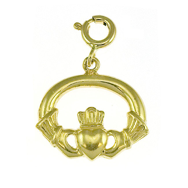 14K GOLD IRISH CLADDAH CHARM #7023