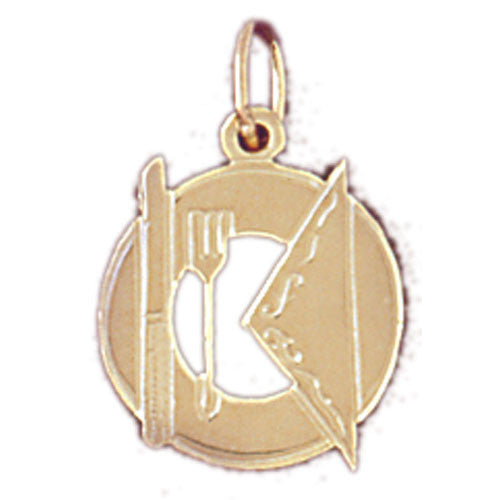 14K GOLD KITCHEN UTENSILS CHARM #6928