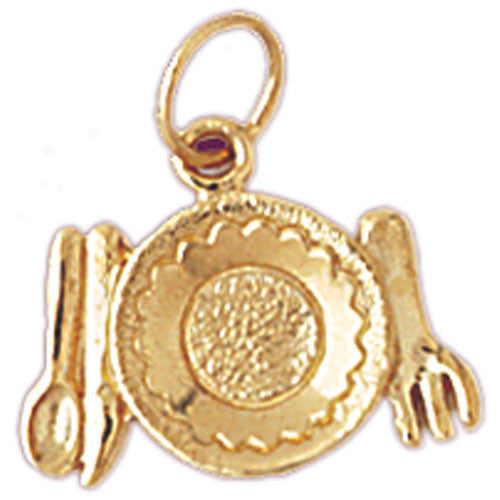 14K GOLD KITCHEN UTENSILS CHARM #6929