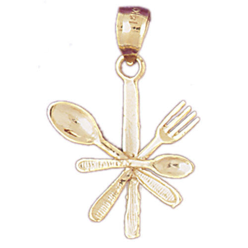 14K GOLD KITCHEN UTENSILS CHARM #6930